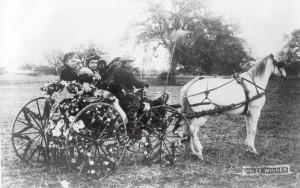 Winnaar van het corso in Pasadena 1890